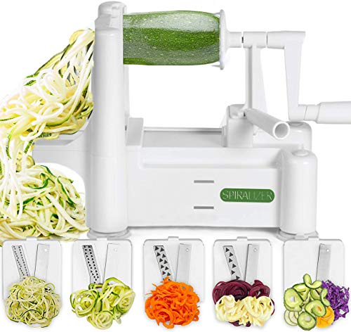 Spiralizer 5-Blade Vegetable Slicer, Strongest-and-Heaviest Spiral Slicer,...