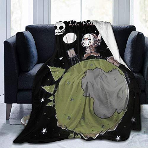 Manta acondicionadora de Halloween Le Petit Jasonair, Manta de Felpa súper Suave, Manta cálida, Utilizada para sofá, Silla de Viaje, Manta de 60 'x 50'