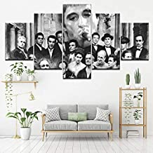 Canvas Wall Art Canvas Painting Godfather Goodfellas Scarface Sopranos 5 Pieces Mural Art Painting Module Wallpaper Poster Print Home Decor-20x35cm/45cm/55cm