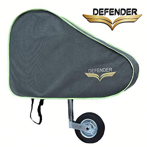Defender Wohnwagen-Abdeckung für Anhängerkupplung, hellgrau/grün, universelle Anhänger-Abdeckung, wasserdicht, mit Riemen