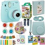 Fujifilm Instax Mini 9 Instant Camera Ice Blue + Fuji Instax Film Twin...