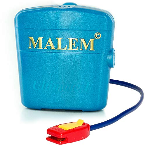 bedwetting alarms Malem Ultimate Bedwetting Alarm (Blue) for Boys and Girls - Loud Sound and Strong Vibration Wake Even Deep Sleepers - Award Winning Enuresis Alarm