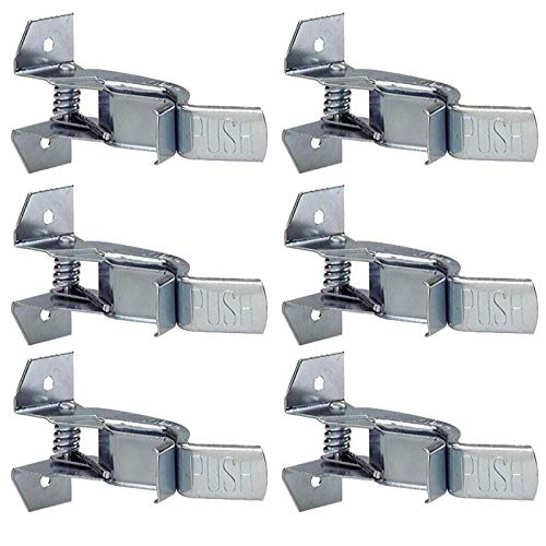 Wideskall Heavy Duty Metal Gaint Spring Grip Clamp Tool Hanger Wall Orgainzer for Garage Closet Brooms and Mops Wall Mount Holder (Pack of 6)