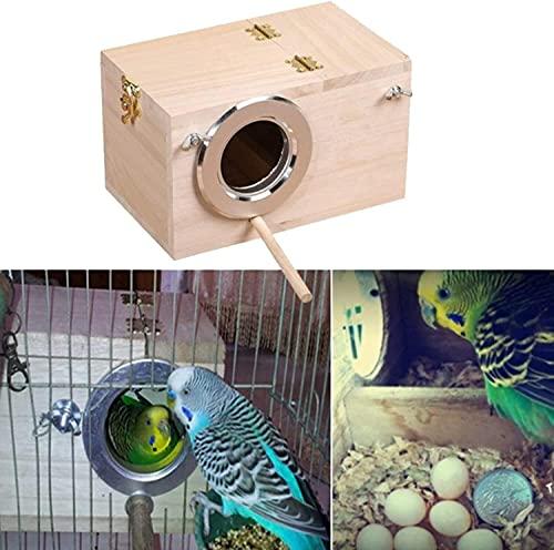 HEZHU Vogelzuchtbox Nistkasten Vogelzucht Brutkasten Vogelhaus für Wellensittich Exoten Papagei Sittich