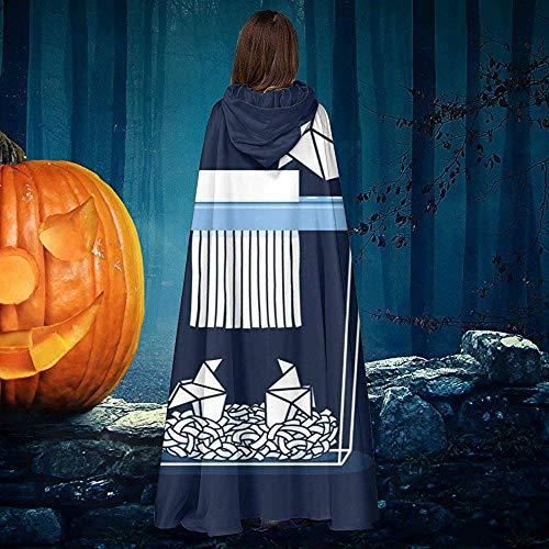 Not Applicable Zauberer Mantel,Paper Mom Origami Personalisierte Zauberer Umhänge Mit Hut Für Hexenzauberer Kostüme 40x150cm