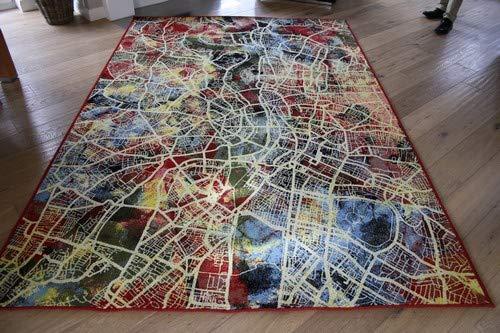 GECO Ambiente Designerteppich Reine Schurwolle MAP (200 x 290 cm)