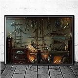 xinxinxiangrong Bloodborne Hunter Videojuegos Art Posters e Impresiones Lienzo Pintura Cuadros de Pared para Sala de Estar Decorativo para el hogar A1777 50 × 70cm Sin Marco