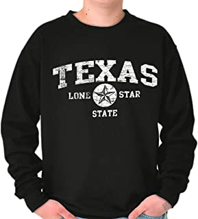 Vintage Texas Lone Star State Cowboy Gift Crewneck Sweatshirt