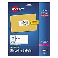 Avery 5263 レーザーラベル 郵便物 永久的 2インチ x 4インチ 250枚パック ホワイト