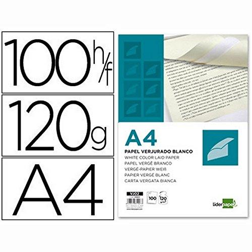 Liderpapel Papel Verjurado A4 120 g/m² Blanco Paquete De 100