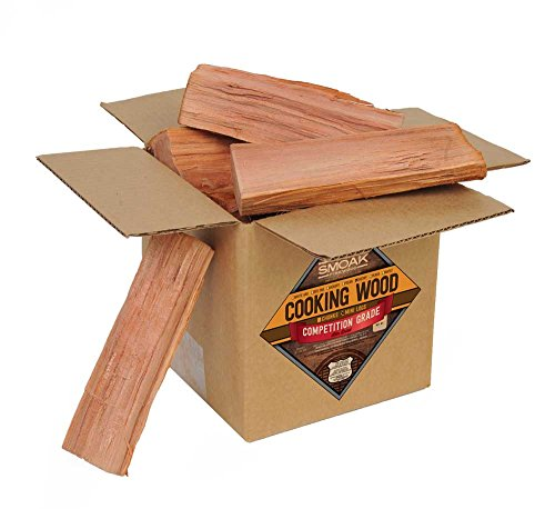 Smoak Firewood Cooking Wood Logs - USDA Certified Kiln Dried (8inch Pieces, 08-10lbs - Cherry)