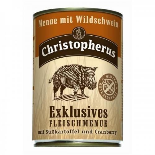 6 x Allco Christopherus Menue mit Wildschwein 400 g, Hundefutter, Nassfutter