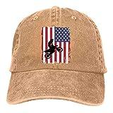 Strapback Hat Dirt Bike Bandera Americana Sombreros De Camionero De Mezclilla Pesca Personalizada Protección Solar Gorra De Béisbol Acogedor Clásico Ajustable De Compras Gorra De