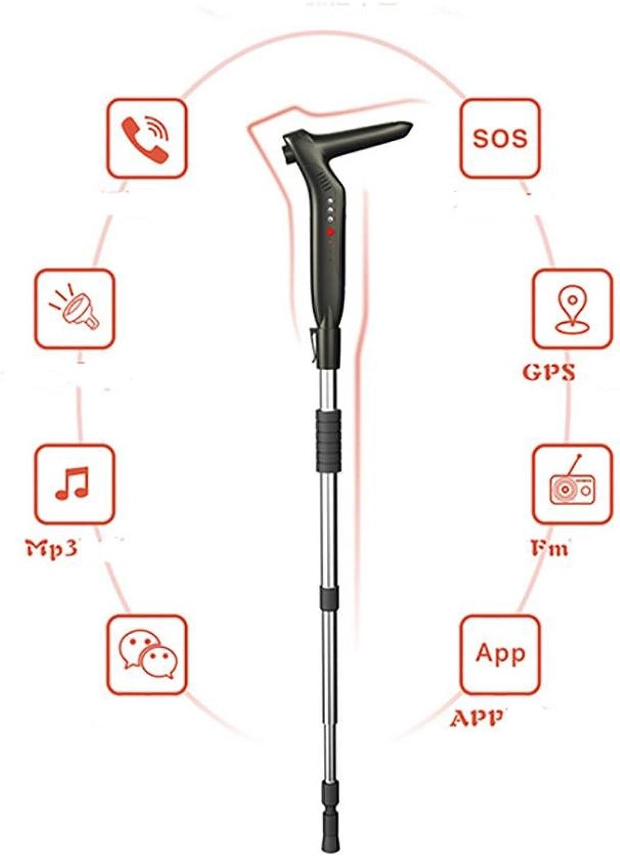 YAO Aviation Aluminum Positioning, Radio, MP3, Flashlight, Emergency Call for Smart Stick