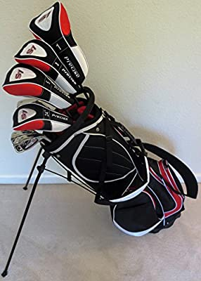 """NEW Mens Complete Golf Set Custom Made Clubs for Tall Men 6'0""""- 6'6"""" Tall Right Handed Driver, Fairway Wood, Hybrid, Irons, Putter"""