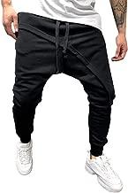 YOcheerful Mens Pants, Mens Sports Pants Trousers Spring Joggers Solid Drawstring Sweatpants Loose Fit Jogger Pants
