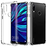 AIFIVE Huawei Y7 2019 Clear Case, Soft TPU Cover with Shock
