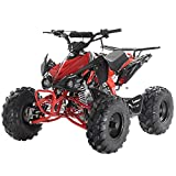 X-PRO 125cc ATV Quad Youth 4 Wheeler Adults ATVs Quads Middle Size 4 Wheelers (Red)