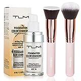 TLM Colour Changing Foundation,TLM Foundation Color Changing Foundation Brush Powder Brush Self Adjusting Warm Skin Foundation Makeup Base Face Moisturizing Liquid Cover Concealer SPF 15 Hilareco