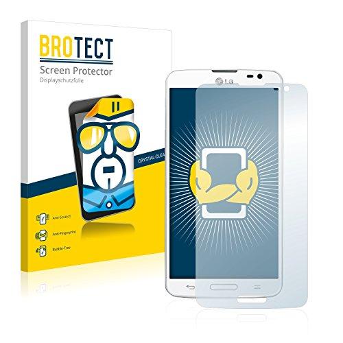 BROTECT Schutzfolie kompatibel mit LG G Pro Lite D682 (2 Stück) klare Bildschirmschutz-Folie
