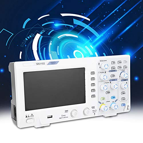 Osciloscopio digital Osciloscopio de 2 canales 100MHZ tipo super económico con LCD de alta resolución de 7 pulgadas para depuración de circuitos electrónicos