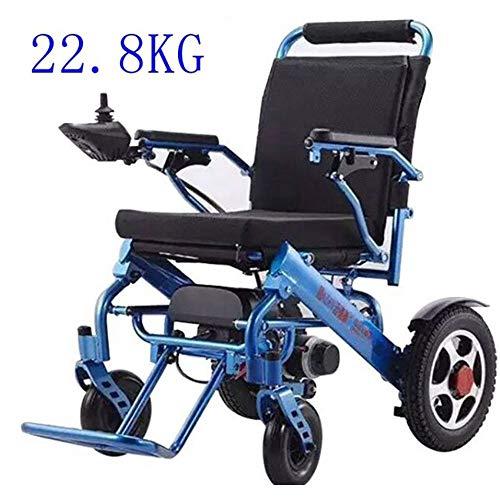 JFZCBXD Elektro-Rollstuhl Folding leichte, tragbarer Elektrorollstuhl, Aluminiumreise-Rollstuhl, behindert Ältere