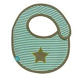 Lässig LTEXBS069 - Babero impermeable (tamaño pequeño), diseño de rayas, color verde