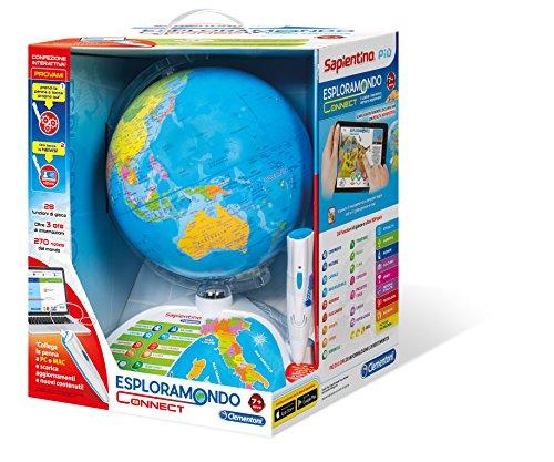 Clementoni- Sapientino Esploramondo Evolution Gioco Educativo Didattico 753, Multicolore, 12450