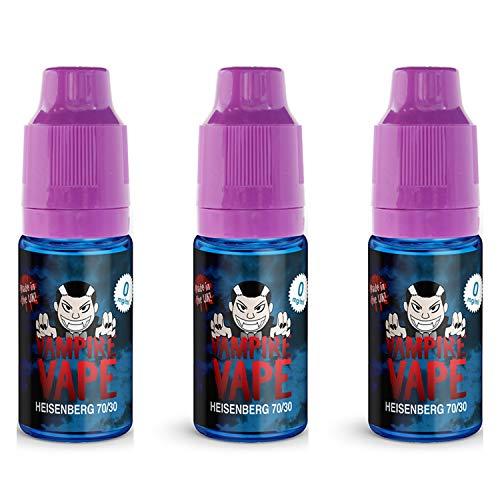3 botellas esencia Heisenberg Vampire Vape; 70VG/30PG;