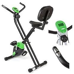 Bike Heimtrainer Ausdauer- und Cardiotraining Ergometer Trimmrad Klappbar mit Trainingscomputer