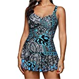 Bikini Set Women One Piece Print Swimsuit Plus Size Patchwork  Female Summer Swimwear-S