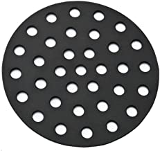 BBQration 9-inch Solid Cast Iron High Heat Charcoal Fire Grate for BGE Large, Fits Large or MiniMax Big Green Egg Grills, Kamado Joe Classic, Primo Grill or Other Ceramic kamado Cooker 18
