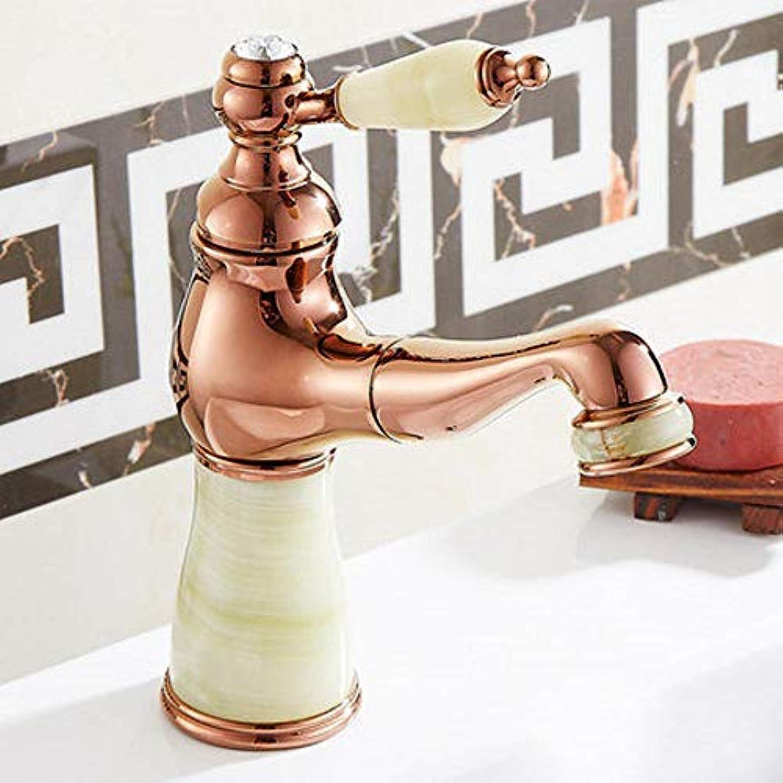 Luziang Wasserhahn Kupfer Hei- und Kaltmischhahn Becken Einlochmischer- Sicherer für in Bad WC Küche