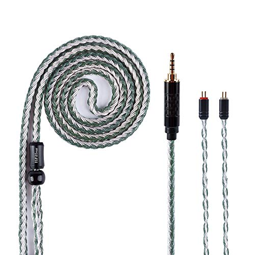 16 Core Silver Plated Replacement Earphones Cable HiFiHear Balance 2.5mm Earbud Extension Cable Stereo Audio Headphone Cable IEM Cable Android for ES4 ED16 ZST ZS10 CCA C10 C16(2Pin 2.5mm)