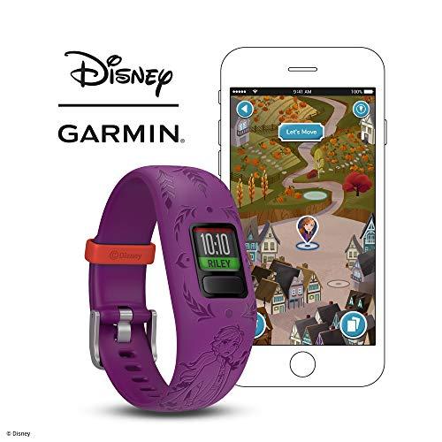 Garmin vívofit Jr 2, Kids Fitness/Activity Tracker, 1-Year Battery Life, Adjustable Band, Disney Frozen 2, Anna, Purple 5