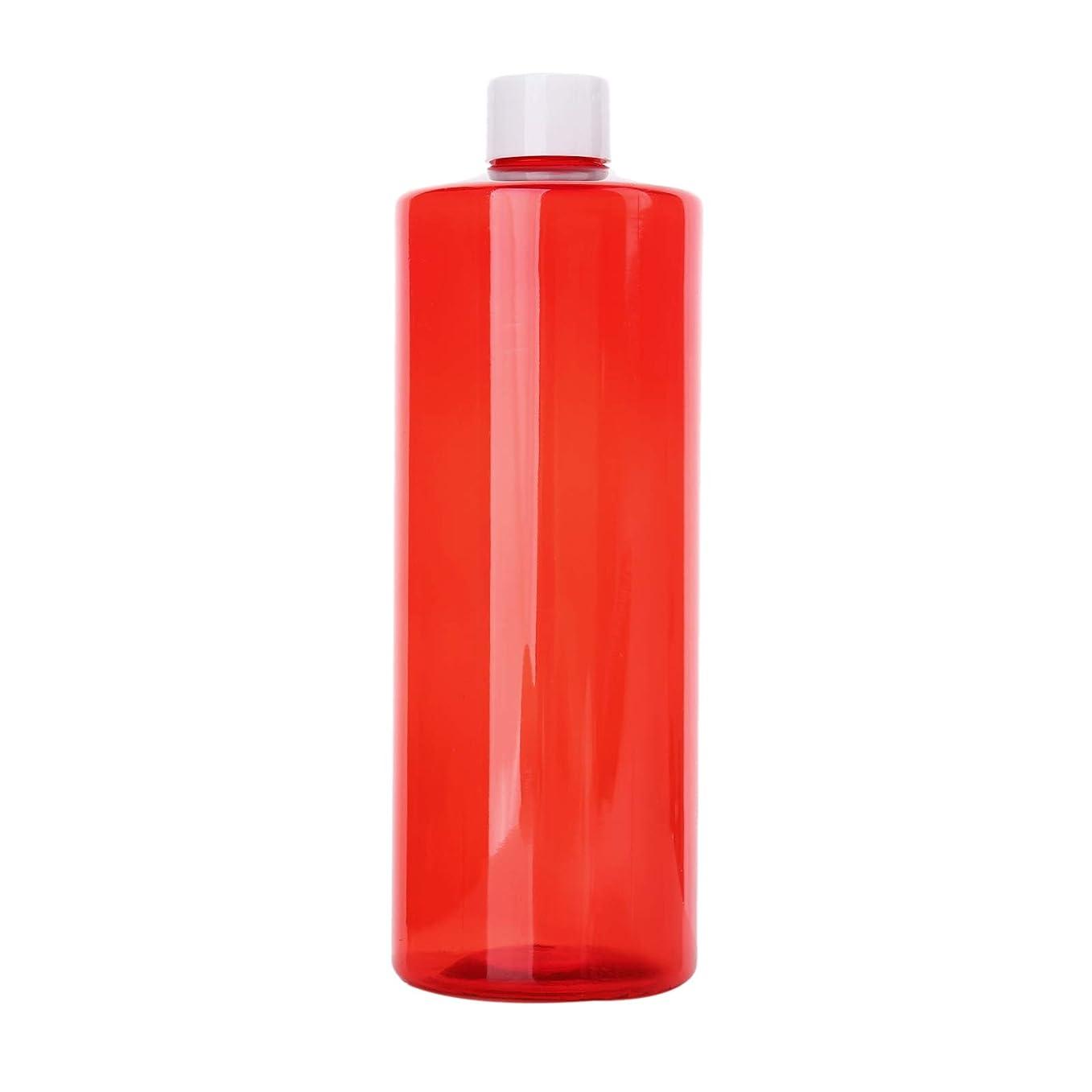 モルヒネ立場郵便屋さん1本 化粧品用 詰め替えボトル 詰め替え容器 大容量 500ml 中栓付き 使いやすい 化粧水用 シャンプー クリーム 貯蔵用 携帯用 空容器 おしゃれ 白ヘッド レッド