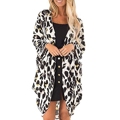 DEELIN Kimono Mujer Verano Moda Leopardo ImpresióN Abrigo Tops Traje Bikini BañAdor Bañador de Playa Smock Cubierta hasta