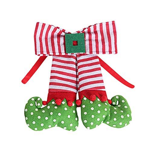 BESTOYARD Decorazioni per L'Albero di Natale Decorazioni per Gli Elfi appesi Decorazioni Natalizie dell'elfo (Verde)