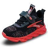 Niño Zapatillas de Unisex Niños Respirable Casual Zapatos de Deporte para Correr Trotar Bádminton Rojo 2 31 EU