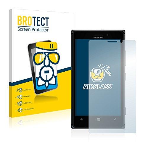 brotect Pellicola Protettiva Vetro Compatibile con Nokia Lumia 925 Schermo Protezione, Estrema Durezza 9H, Anti-Impronte, AirGlass