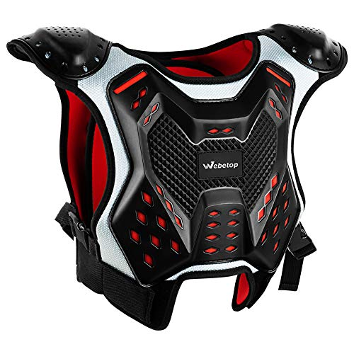 Webetop Youth ATV Chest Protector Motocross Armor for Mountain Biking Cycling Kids M