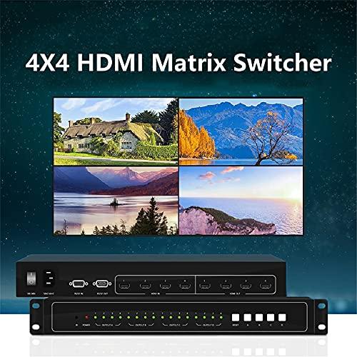 HDMI matriz conmutador 4x4 fijo 4 entrada 4 salida HDMI CCTV matriz conmutador para vídeo pantalla de pared