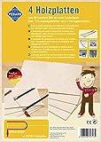 Pebaro 327/130-5 - Planchas de madera para trabajos de sierra de marquetería