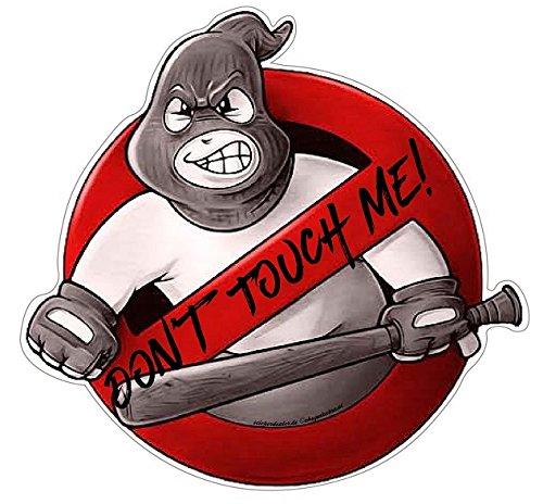 Don't Touch Me! Aufkleber Sticker Autoaufkleber JDM Oldschool Hardcore Baseballschläger Moped Motorrad Bike Laptop Auto