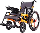 KILLM Electric Wheelchair Foldable Portable, The Longest Drive 20Km20a Lithium Battery 24-Inch Wheel