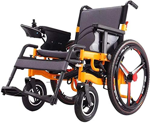 KILLM Electric Wheelchair Foldable Portable, The Longest Drive 20Km20a Lithium Battery 24-Inch Wheel, Travel Lightweight Folding Aviation Travel Heavy Duty Power Wheelchair, Two Modes