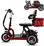 CMNAN Scooter Plegable Eléctrico Minusválido, Scooters Para Discapacitados, 12 Mph, 300W Motor, Ajuste De 3 Velocidades, Carga Máxima De 265 Libras, Adecuado Para Ancianos, Discapacitados Y Adultos 30