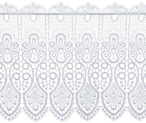 Plauener Spitze by Modespitze, Tendina Decorativa, Altezza 35 cm, Bianco (Weiß), Larghezza: 112 cm