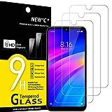 NEW'C 3 Unidades, Protector de Pantalla para Xiaomi Redmi 7, Redmi Y3, Antiarañazos, Antihuellas, Sin Burbujas, Dureza 9H, 0.33 mm Ultra Transparente, Vidrio Templado Ultra Resistente