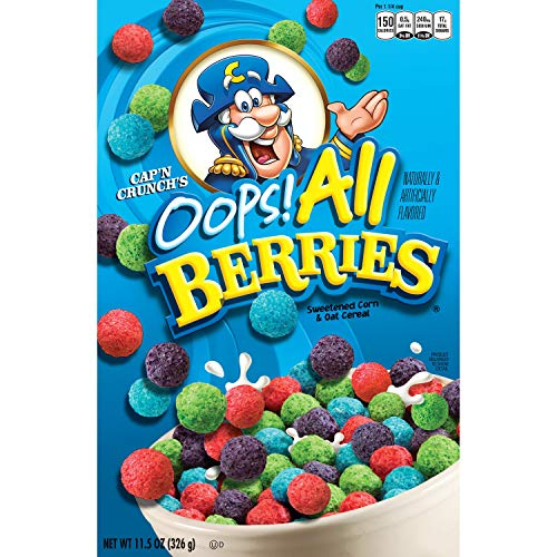 Captain Crunch Opps - All Berries Sweetened Corn & Oat Cereal 326g Box